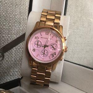 Rose gold, light pink face, Michael Kors watch